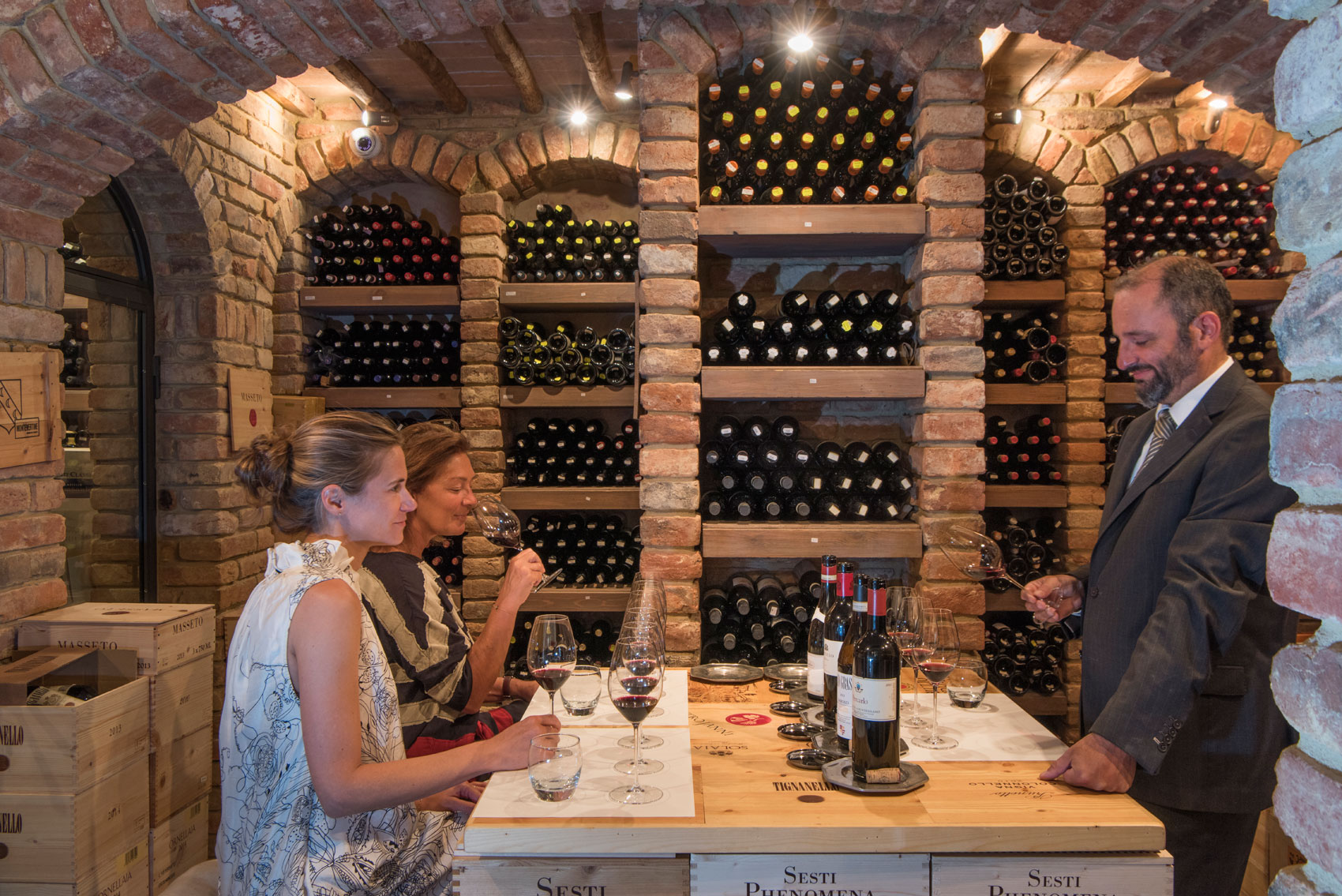 Wine tasting with a sommelier in Borgo Santo Pietro wine cellar