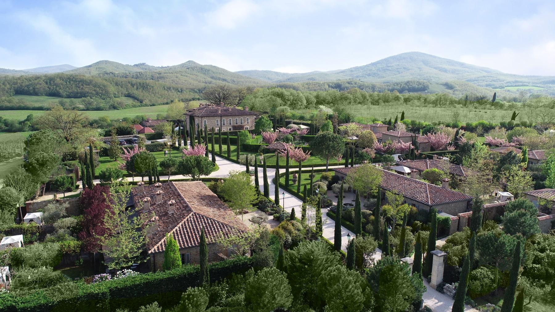 Borgo Santo Pietro aerial view