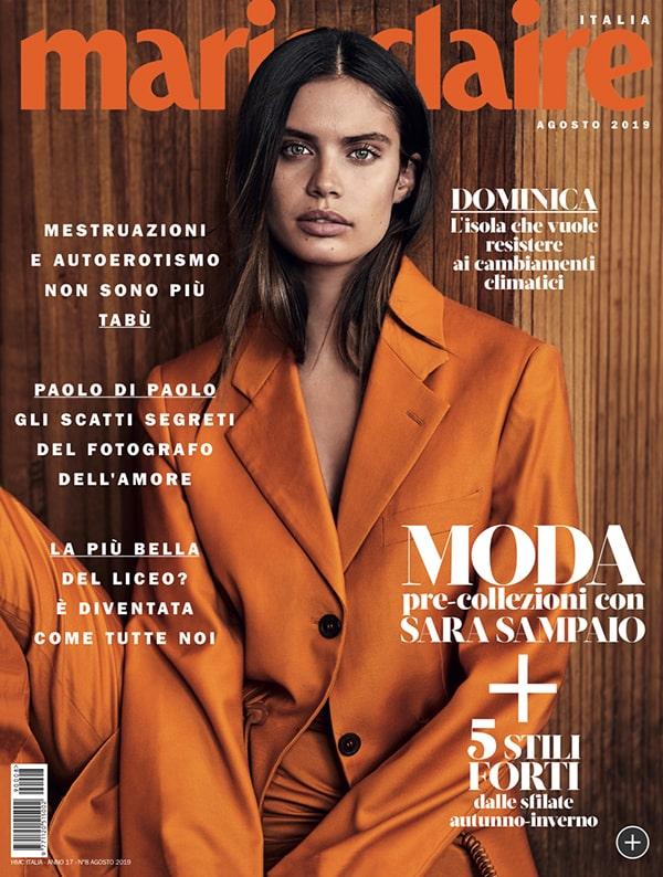 Cover Marie Claire Italia agosto 2019